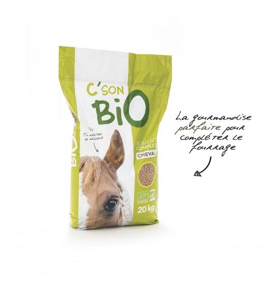 Aliment complet pour cheval bio en Granulé