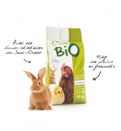 Aliment complet pour lapin bio en Granulé