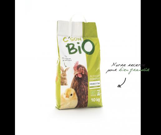 Aliment complet Bio en miette pour volaille et poussin