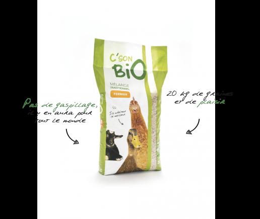 mélange traditionnel fermier Bio, aliments bio pour animaux.
