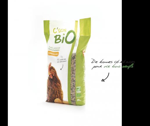 Mélange traditionnel Pondeuse Bio, aliments Bio pour poule pondeuse.